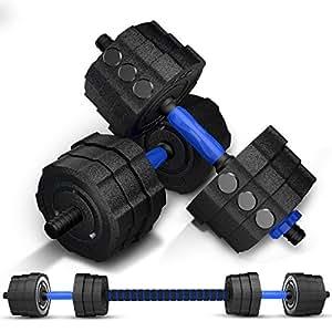 凯速蓝款环保哑铃可拆卸男士包胶手铃杠铃套装家用运动健身器材非包胶专业运动健身器材 (10, 10KG)