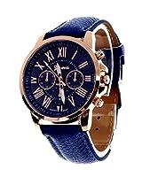 Geneva Platinum Analog Blue Dial Women's Watch - GP-083