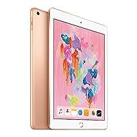 【2018新款】 Apple iPad 9.7英寸平板电脑(128G WIFI版/A10 芯片/Retina显示屏/Touch ID技术 MRJP2CH/A) 金色+chirslain清洁套装【新品发售赠复古麋鹿定制款保护套】