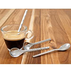 WMF Type Espresso Spoons, 4.25-Inch, Silver, Set of 4