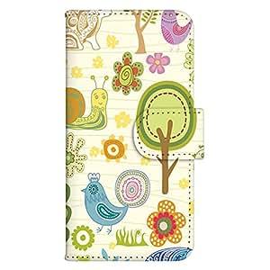 智能手机壳 手册式 对应全部机型 印刷手册 wn-414top 套 手册 鸟类设计 UV印刷 壳WN-PR286849-L Zenfone5 图案 A