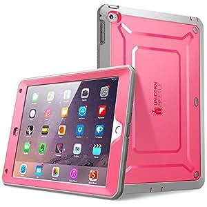 iPad Air 2保护套, SUPCASE 【 [ 重型】 Apple iPad Air 2保护套 [ *二代 ] 2014版 [ UNICORN BEETLE PRO 系列 ] 全包坚固混合保护套适用于,内置屏幕保护–双层设计 + 耐冲击保险杠 粉色/灰色 10x7.4x0.7inches