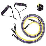 Planet 健身阻力管带3件套,带手柄,适合家庭锻炼、力量训练、旅行、物理*