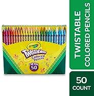 Crayola 绘儿乐 Twistables彩色铅笔套装 50支装 3岁以上