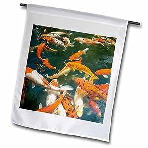 danita delimont–鱼–装饰 KOI , SHOPPING MALL , malacca ,马来西亚–as23sws0093–stuart westmorland–旗帜 12 x 18 inch Garden Flag