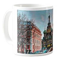 AquaSakura - 圣彼得堡俄罗斯城市 - 325ml 陶瓷咖啡杯茶杯