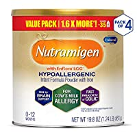 Enfamil 美赞臣 Nutramigen 安敏健 0-12个月 LGG深度水解婴儿配方奶粉 无乳糖防牛奶过敏 561g/罐 4罐装