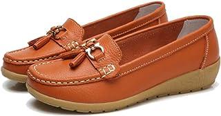 getmorebeauty 女式平底乐福鞋,高贵流苏风格,舒适步行驾驶*鞋