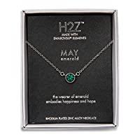 Pavilion Gift Company H2Z 16220 五月绿色诞生石项链带 45.72 厘米链子