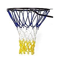 Fandom Nets 篮球网 - NCAA 和 NBA 尺寸 - 适合室内室外篮球/目标 - 替换网官方、男孩、青年、游泳池/游泳池游戏。 蓝色、黄色、白色、黑色、红色