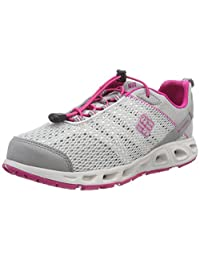 Columbia Girl's Water Shoes, YOUTH DRAINMAKER III, Grey (Grey Ice/Haute Pink), Size: 3.5
