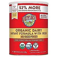 Earth's Best 乳制品婴儿奶粉 成分含有铁,Omega-3 DHA和Omega-6 ARA,35盎司/992克 (4罐装)