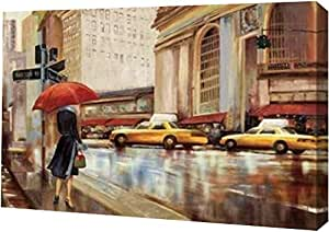 "PrintArt GW-POD-32-PA434-A-36x24""in The City"" 由 Pi Studio Gallery Wrapped Giclee 油画艺术印刷品 12"" x 8"" GW-POD-32-PA434-A-12x8"