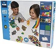 Plus-Plus 9603811 玩具迷你拼插積木,Learn to Build Super 積木套裝,1200塊,彩色