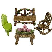 Twig & Flower 超可爱微型(八件)仙女花园家具和小茶套装