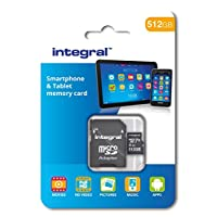 512GB Integral microSDXC CL10 UHS-I U1 Smartphone and Tablet Memory Card