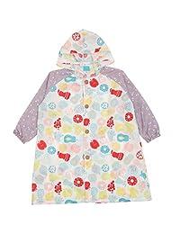 小川 Ogawa 儿童雨衣 Kukka Hippo 附带反光条 附背面褶皱 河马先生造型 背包款式收纳袋 08 くだもの 100cm 84050