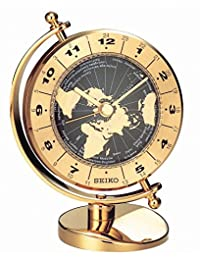 Seiko 中性模拟手表带金色表盘模拟显示屏 - QHG106G