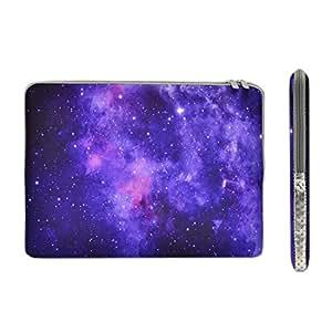 顶盒 - Galaxy 图案拉链套袋适用于所有 MacBook、笔记本电脑、ChrombookBAG-13-GAL-4 13 inch