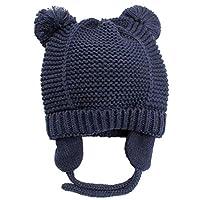 冬季保暖耳罩新生儿婴儿帽 无檐小便帽 婴幼儿 儿童针织帽 羊毛内衬 男女皆宜 适合男童