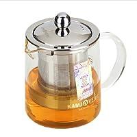 AlfunBel艾芳贝儿金灶A01耐热玻璃茶道办公飘逸玻璃杯 花茶壶 茶艺壶 泡茶杯不锈钢过滤内胆350ML-C-90-6