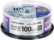 三菱化学媒体 一次录像用 BD-R XL VBR520YP20SD4 (单面3层/2-4倍速/100GB/20张装)