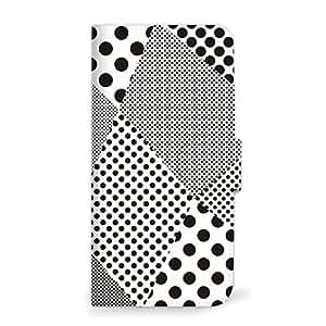 MITAS 智能手机保护壳翻盖型圆点几何简约  A 1_iPhoneSE (iPhoneSE)