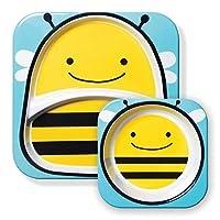 美国 SKIP HOP 可爱动物园餐具碗碟套组 小蜜蜂SH252204