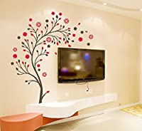 StickersKart Wall Stickers Beautiful Magic Tree with Flowers (Multi-Colour, 1...-7156