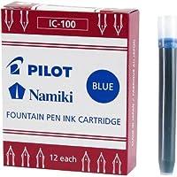 Pilot Namiki IC50 钢笔墨盒 精细书写 12片装 蓝色