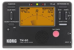 Korg TM60BK 调谐器金属,黑色TM60BK
