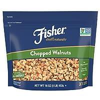 FISHER Chef's Naturals 切碎核桃, 无防腐剂,16盎司(453克)