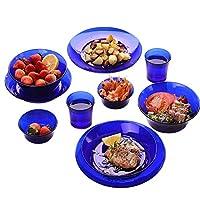 DURALEX 多莱斯 餐具双人10件套宝蓝色法国进口