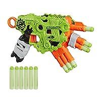 NERF 热火 Zombie Strike发电机冲击波软弹枪-3种射击方式-包括12种官方Zombie Strike Elite飞镖-适用于儿童,青少年,成人