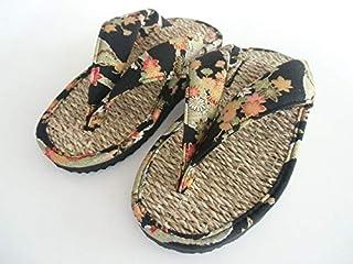 [青木旗舰店] 七岛 积木宽幅 日式花纹 黑色