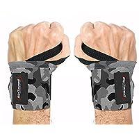 手腕挤压来自 Rip toned–30.48cm 专业级带拇指 Loops–护腕支架适用于男式和女式–举重 XFIT powerlifting 力量训练–BONUS EBOOK