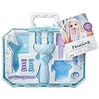 Frozen 2 冰雪奇缘2 艾尔莎的卷发梳妆台配件套装-给头发上卷打造有趣的发型! 简易发型设计工具机DIY发型工具-适用于3岁以上的女孩和青少年