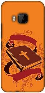 amzer 修身手工定制设计师印花硬壳保护套背部外壳适用于 HTC ONE M9 Bible Wisdom 2