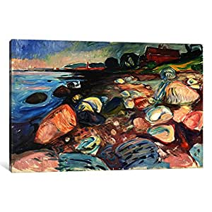 iCanvasART 15226-1PC6-26x18 Shore with The Red House, 1904 Canvas Print by Edvard Munch, 1.5 by 26 by 18-Inch