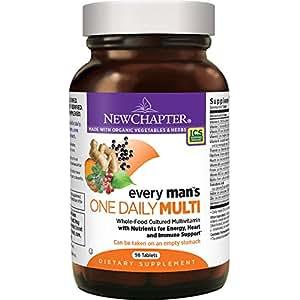 New Chapter 每日一粒,男性的多种维生素发酵含益生菌+硒+ B维生素+维生素D3 +Non-GMO成分 - 96粒