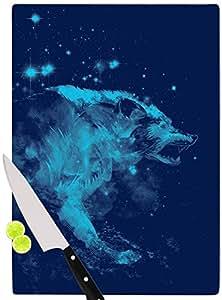 "KESS InHouse Frederic Levy-Hadida""Predation Instinct II Blue Wolf"" 切割板,多色 多种颜色 11.5 by 8.25"" FH1044ACB01"