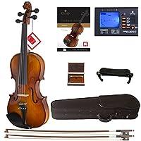 Cecilio CVN-300 实木乌木合身小提琴带 D'Addario Prelude 琴弦DA_4/4CVN-300+SR+92D+FB1 4/4-size (full-size)