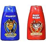 Paw Patrol 狗狗巡逻队2件套沐浴套装 - 洗发水和沐浴露 - Chase Marshall