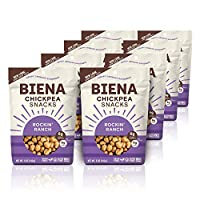 Biena 烤鹰嘴豆小吃, Rockin' Ranch, 5盎司(141.5克), 8件装
