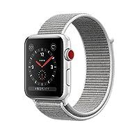 Apple Watch Series 3 智能手表 38mm GPS + 蜂窝网络 银色铝金属表壳 海贝色回环式运动表带