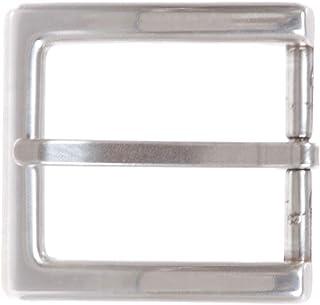 1 5/8 英寸(40 毫米)银色矩形单层皮带扣
