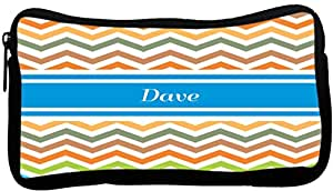 Rikki Knight Dave Blue Chevron Name Neoprene Pencil Case (dky-Neo-pc4289)