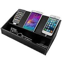存货您的家庭办公桌收纳 用于电子产品、媒体、视频游戏、控制器、邮件、杂志、办公用品等 Charging Station (Black) Black Charging Station 970833