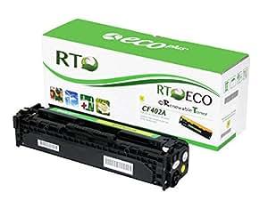 可再生硒鼓 CF400A 201A 兼容硒鼓适用于 HP Color LaserJet Pro MFP M277n M252 系列打印机 1包 黄色