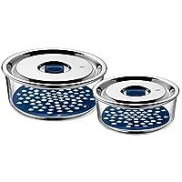 WMF 福騰寶 Top Serve系列密閉存儲與上菜系統套裝 2件裝 配滴水托盤 654916020